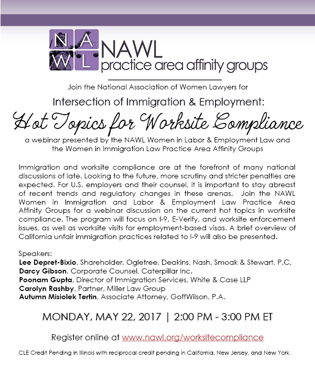 Nawl Women In Immigration Employment Hot Topics For Worksite